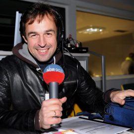 Lars Pegelow NDR Hoerfunk Moderator, Radio-LiveuebertragungUEFA-Cup MSK Zilina - Hamburger SV