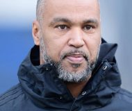 Hospitant Patrick ''Coach'' Esume (American Football) Hamburg, 26.02.2020, Fussball Hamburger SV, Training