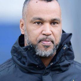 Hospitant Patrick ''Coach'' Esume (American Football) Hamburg, 26.02.2020, Fussball Hamburger SV, Training