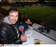 Lars Pegelow NDR Hoerfunk Moderator, Radio-Liveuebertragung UEFA-Cup MSK Zilina - Hamburger SV